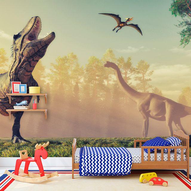 Adesivo de Parede 3D Dinossauro Painel Fotográfico F210