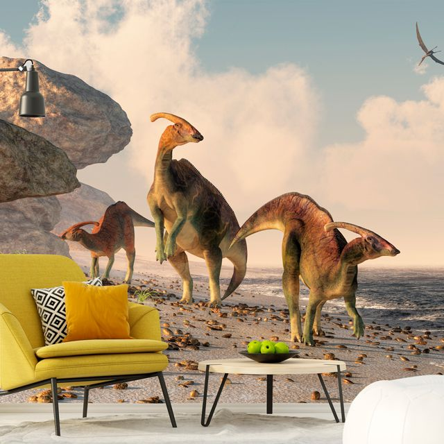 Adesivo de Parede 3D Dinossauro Painel Fotográfico F211