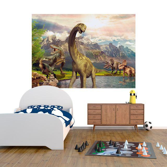 Adesivo de Parede 3D Dinossauro Painel Fotográfico F214