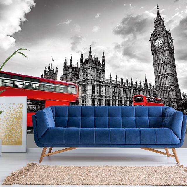 Adesivo de Parede 3D London Painel Fotográfico F183