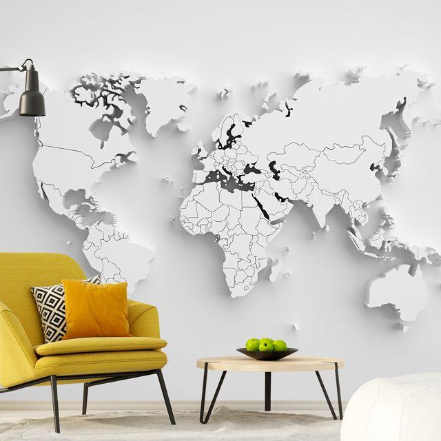 Adesivo de Parede Foto Mural Mapa 3D F249