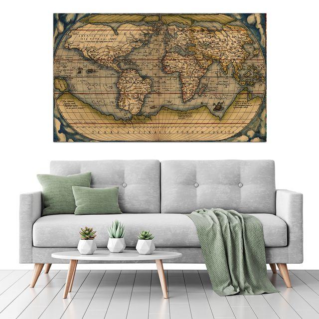 Adesivo de Parede Foto Mural Mapa F043