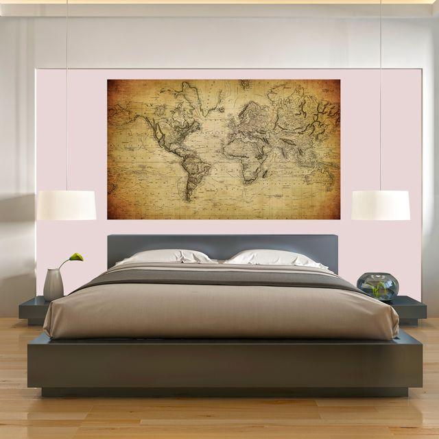 Adesivo de Parede 3D Mapa Painel Fotográfico F045
