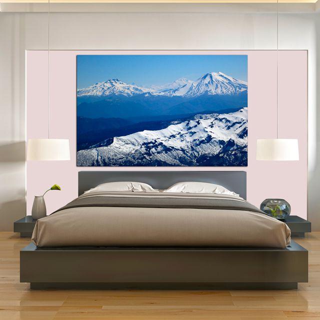 Adesivo de Parede Foto Mural Paisagem Montanha F048