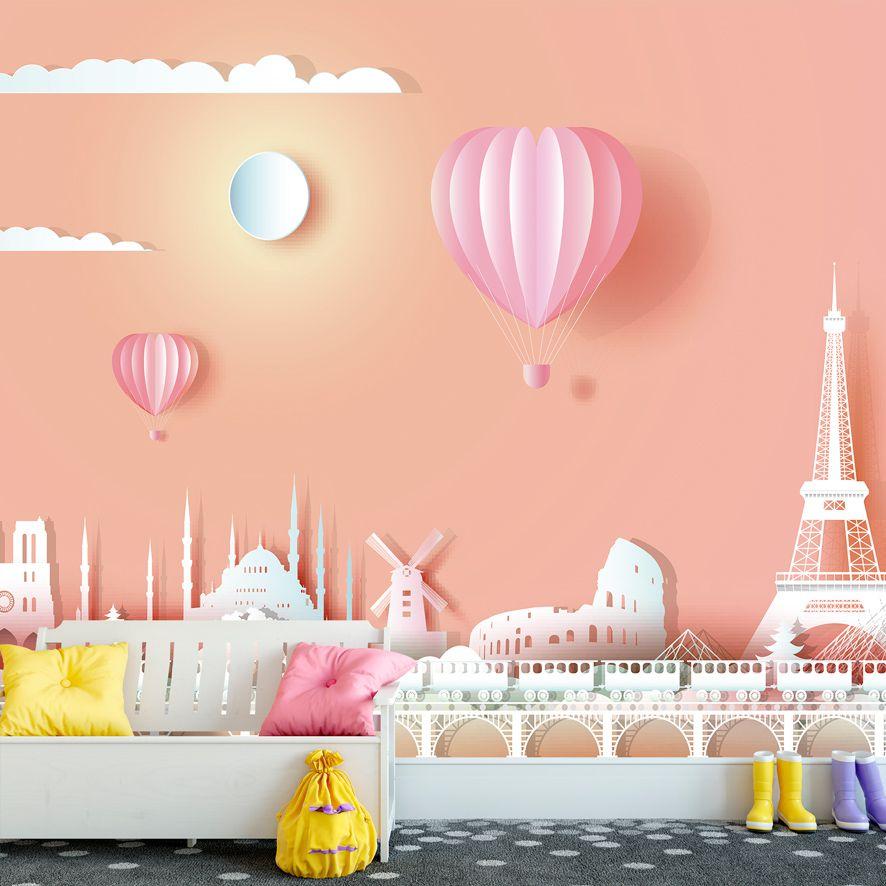 Adesivo de Parede Foto Mural Paris Balão F297