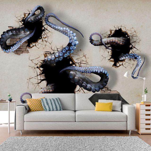 Adesivo de Parede Foto Mural Polvo Aspecto 3D F190