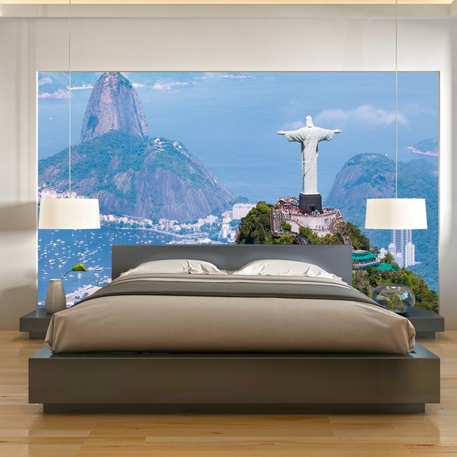 Adesivo de Parede 3D Rio de Janeiro Painel Fotográfico F019