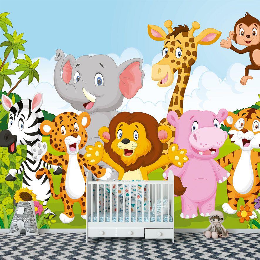 Adesivo de Parede Foto Mural Safári Zoo F265