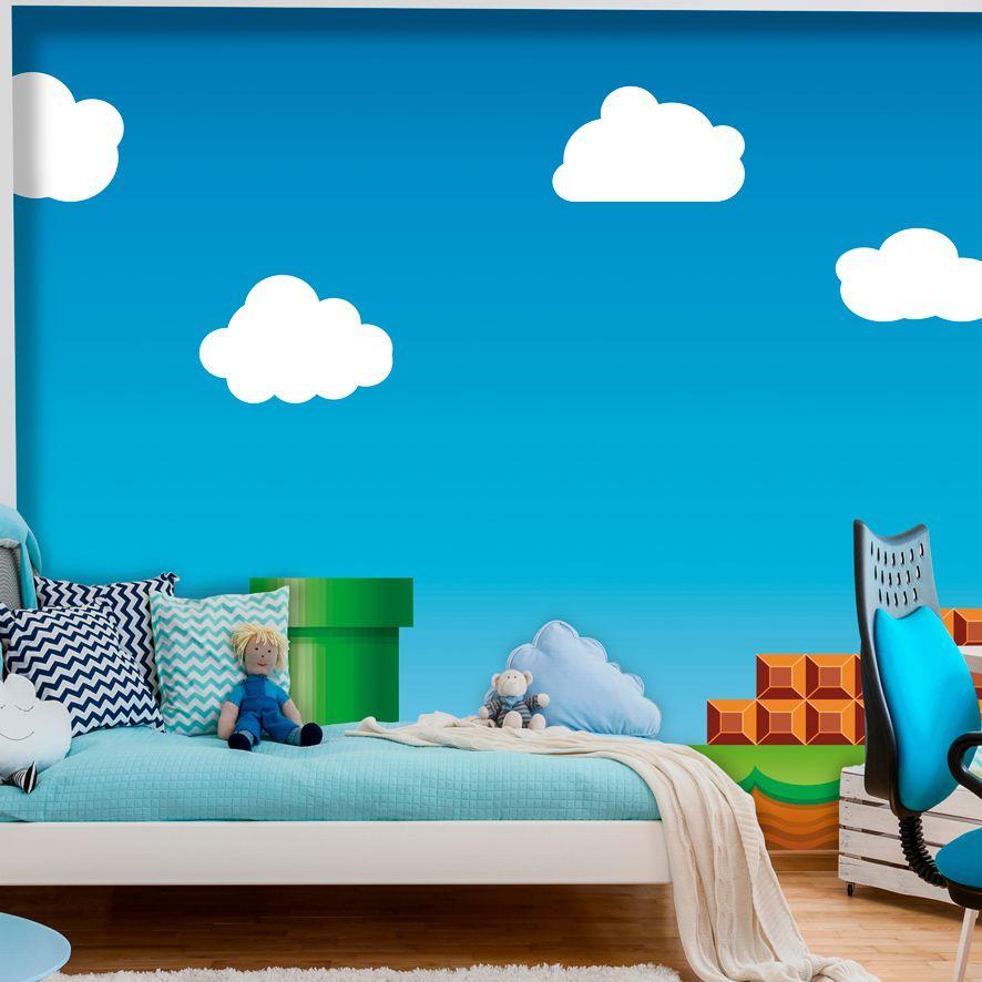 Adesivo de Parede Foto Mural Super Mario F293