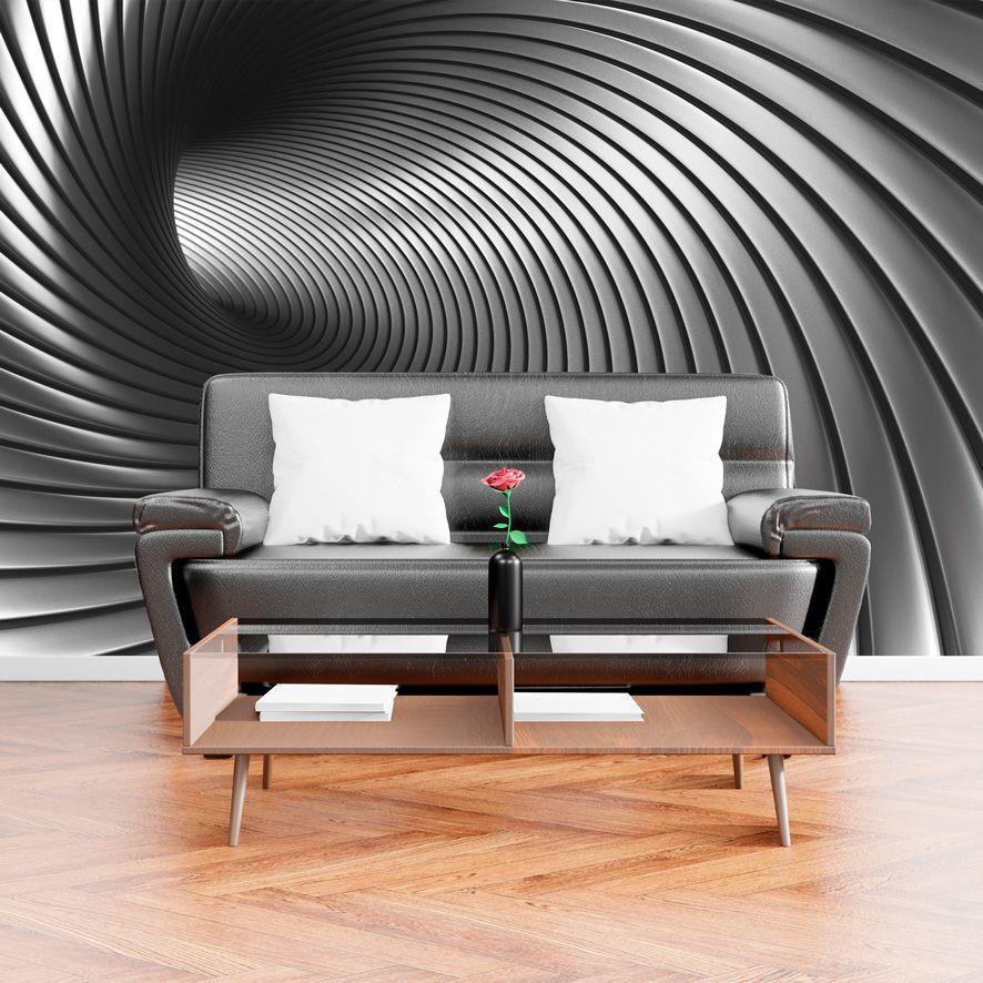 Adesivo de Parede 3D Tunel  Cinza Painel Fotográfico F224