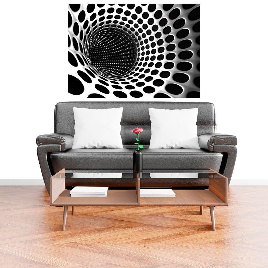 Adesivo de Parede Foto Mural Tunel 3D Cinza F226