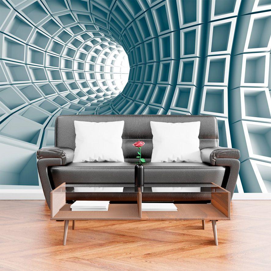 Adesivo de Parede Foto Mural Tunel 3D F242