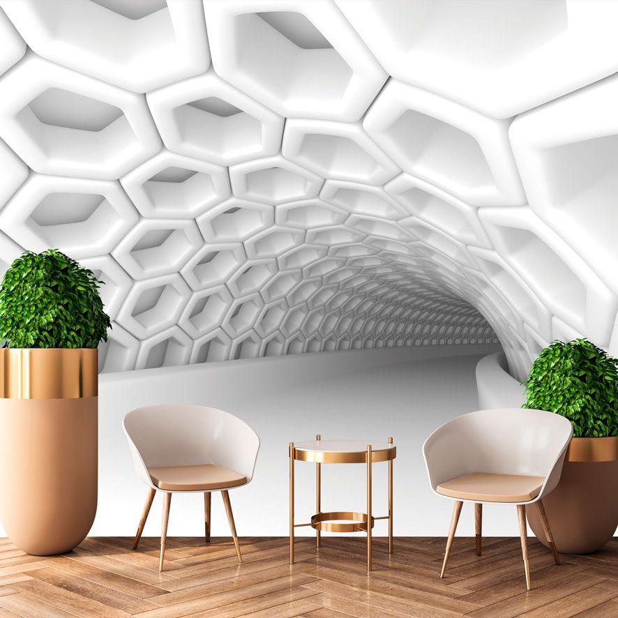 Adesivo de Parede Foto Mural Tunel 3D F243