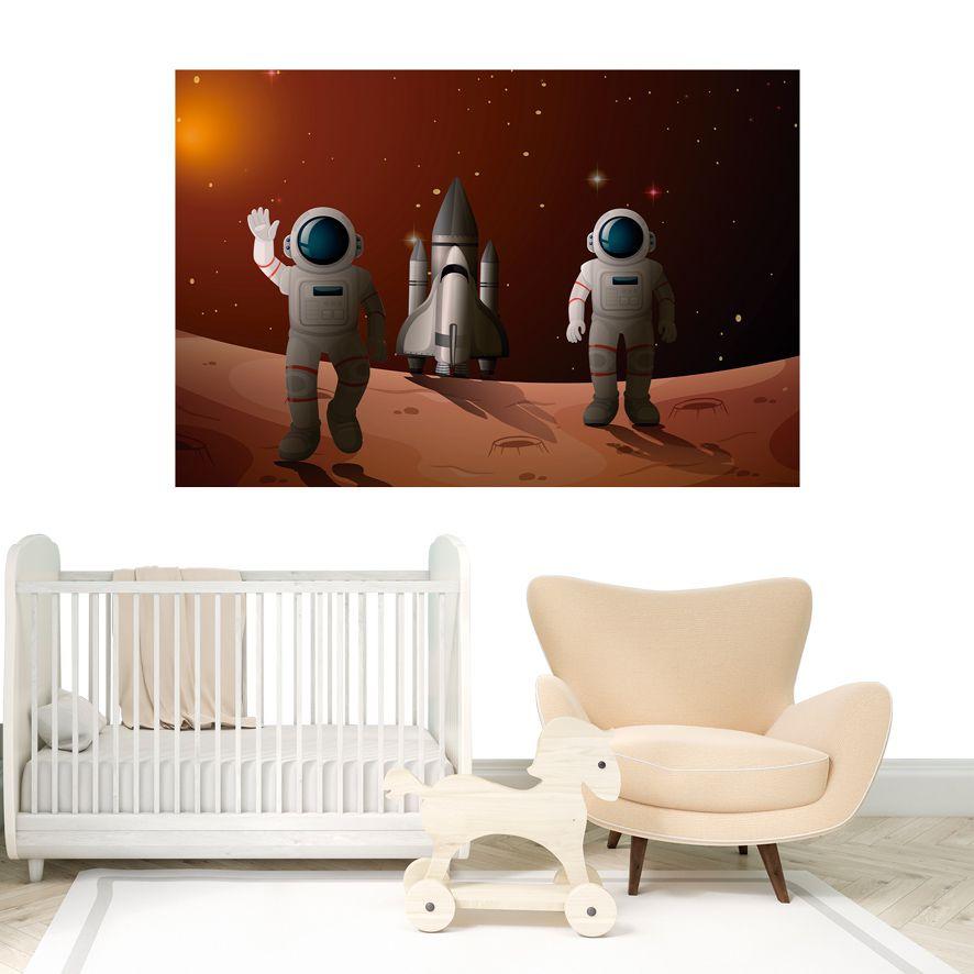 Adesivo de Parede 3D Astronauta Painel Fotográfico F302