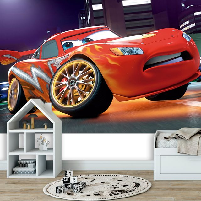 Adesivo de Parede 3D Kids Carros Painel Fotográfico F056