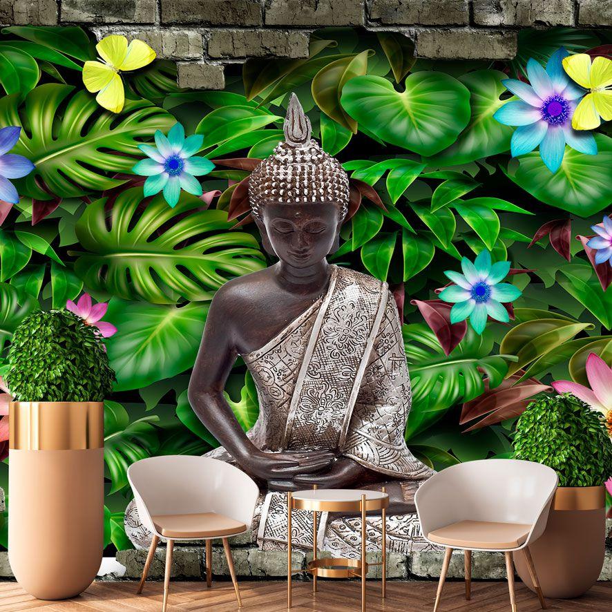 Adesivo de Parede 3D Gautama Buddha Painel Fotográfico F324