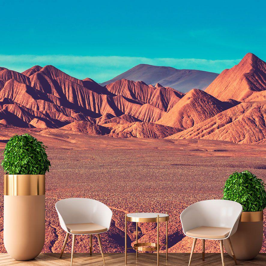 Adesivo de Parede 3D Paisagem Montanhas Painel Fotográfico F306