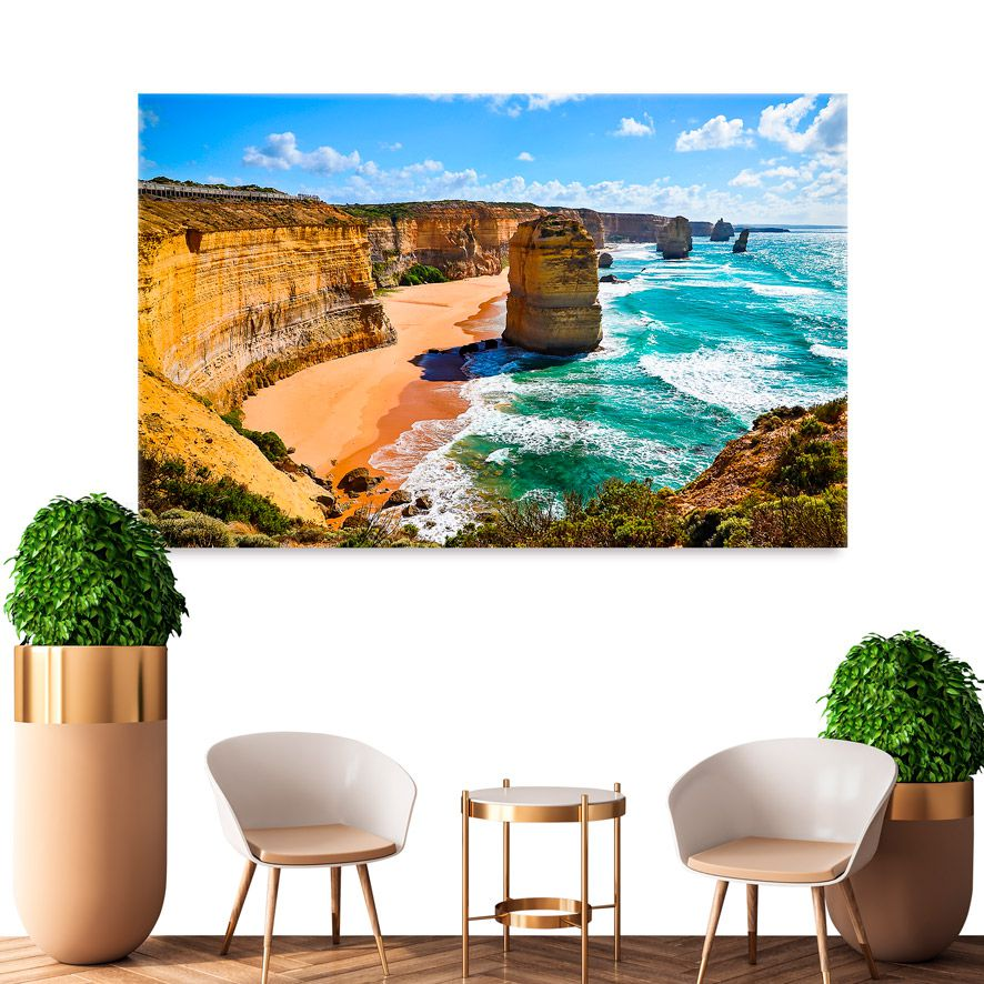 Adesivo de Parede 3D Praia Painel Fotográfico F311