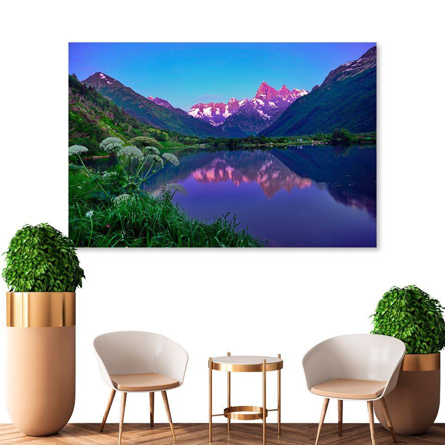 Adesivo de Parede 3D Paisagem Montanhas Painel Fotográfico F325