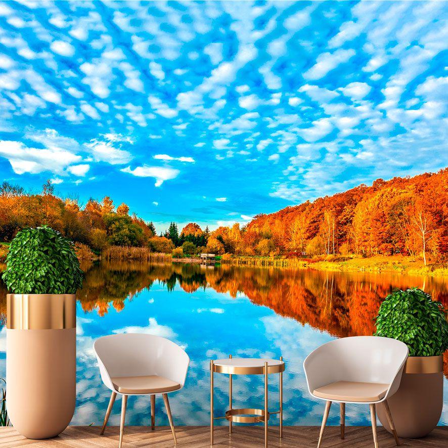 Adesivo de Parede 3D Paisagem Rio Painel Fotográfico F328