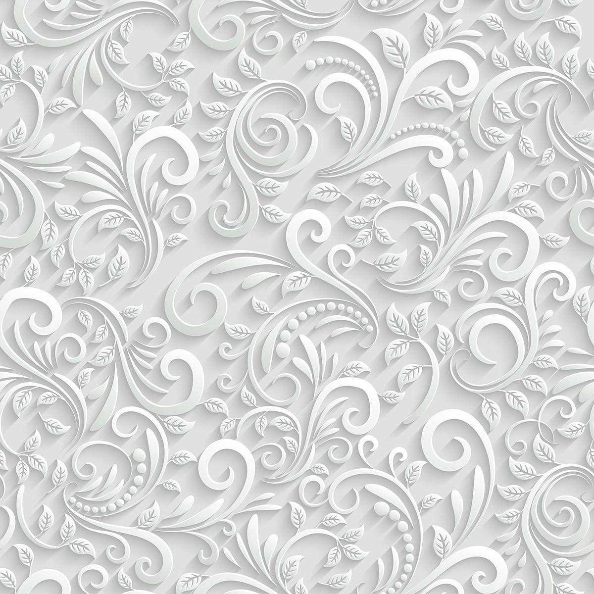 Papel de Parede 3D Arabesco Tribal Folhas Abstrato Adesivo