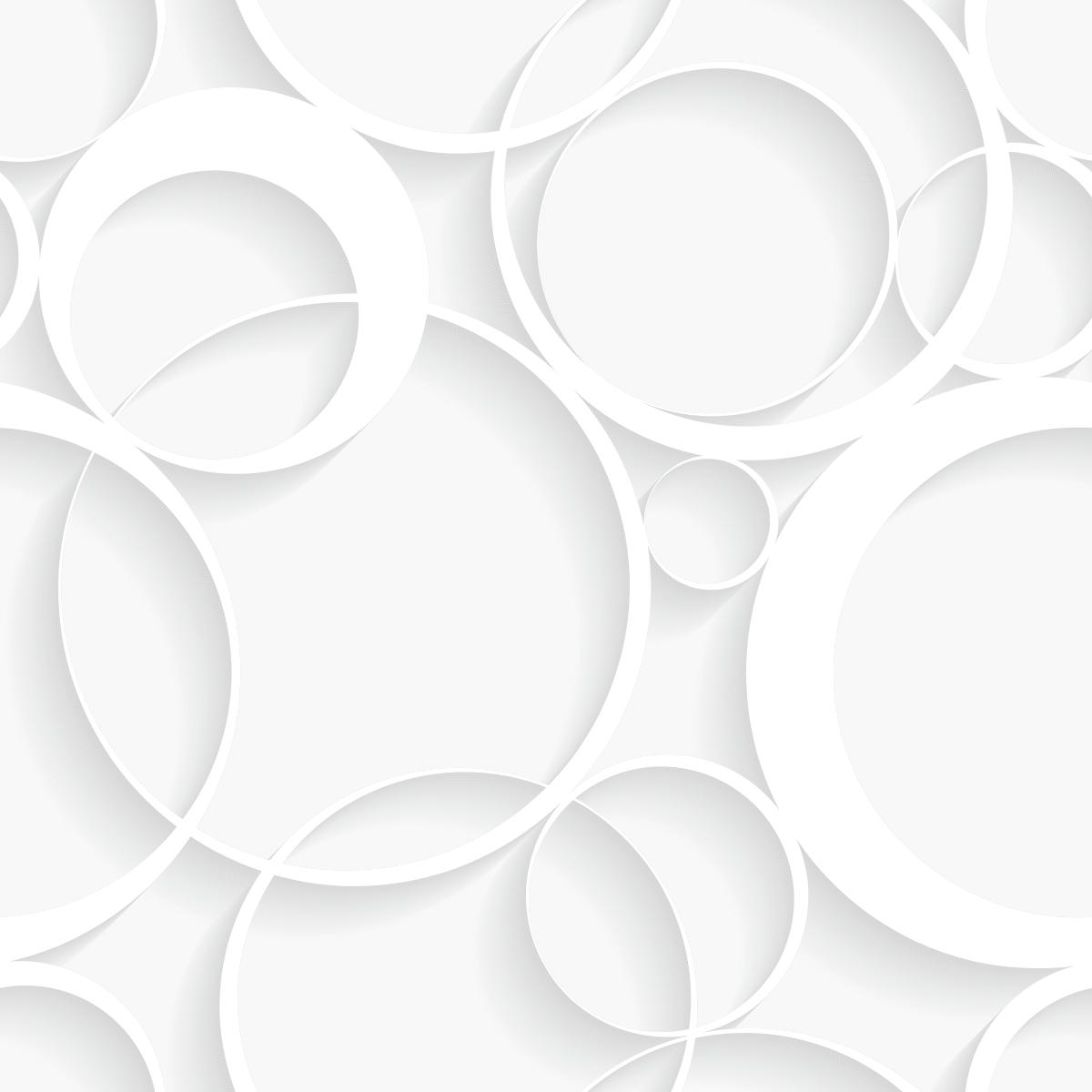 Papel de Parede 3D Círculos Bolas Adesivo