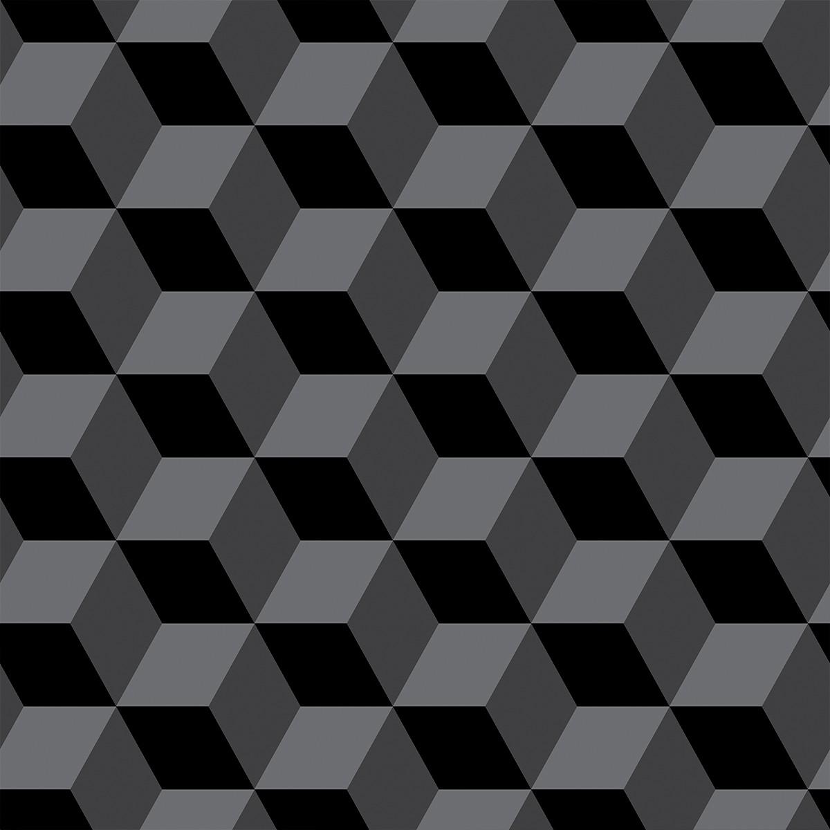 Papel de Parede 3D Cubos Geométrico Quadrados Adesivo