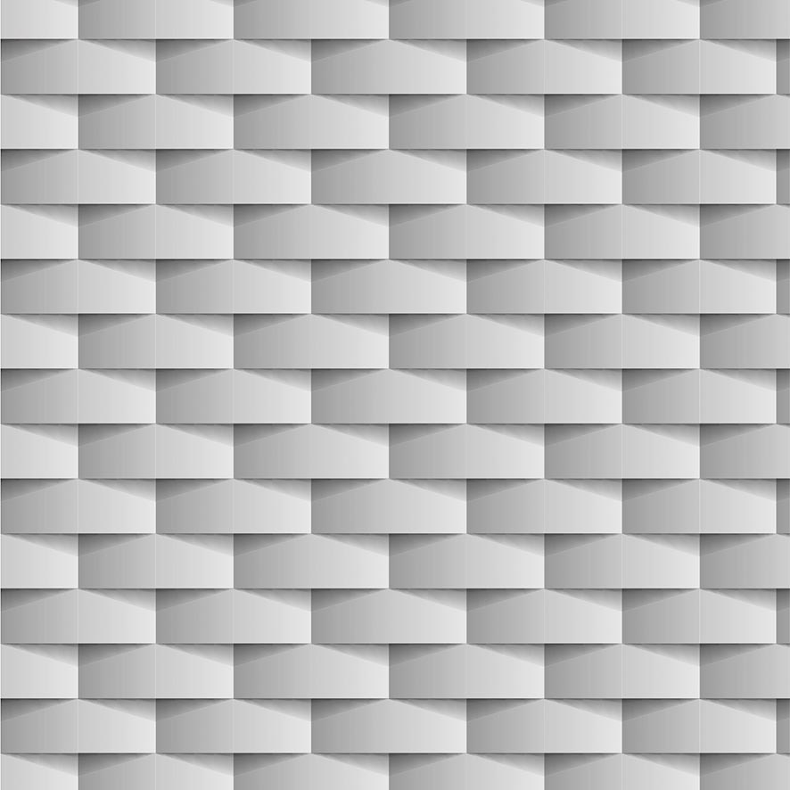 Papel de Parede 3D Efeito Ondulado Tom Cinza  Adesivo P886