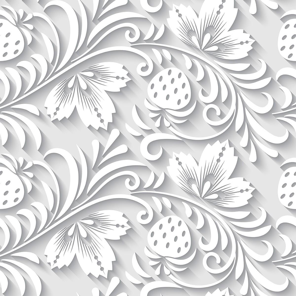 Papel de Parede 3D Floral Frutas Morango Tropical Adesivo