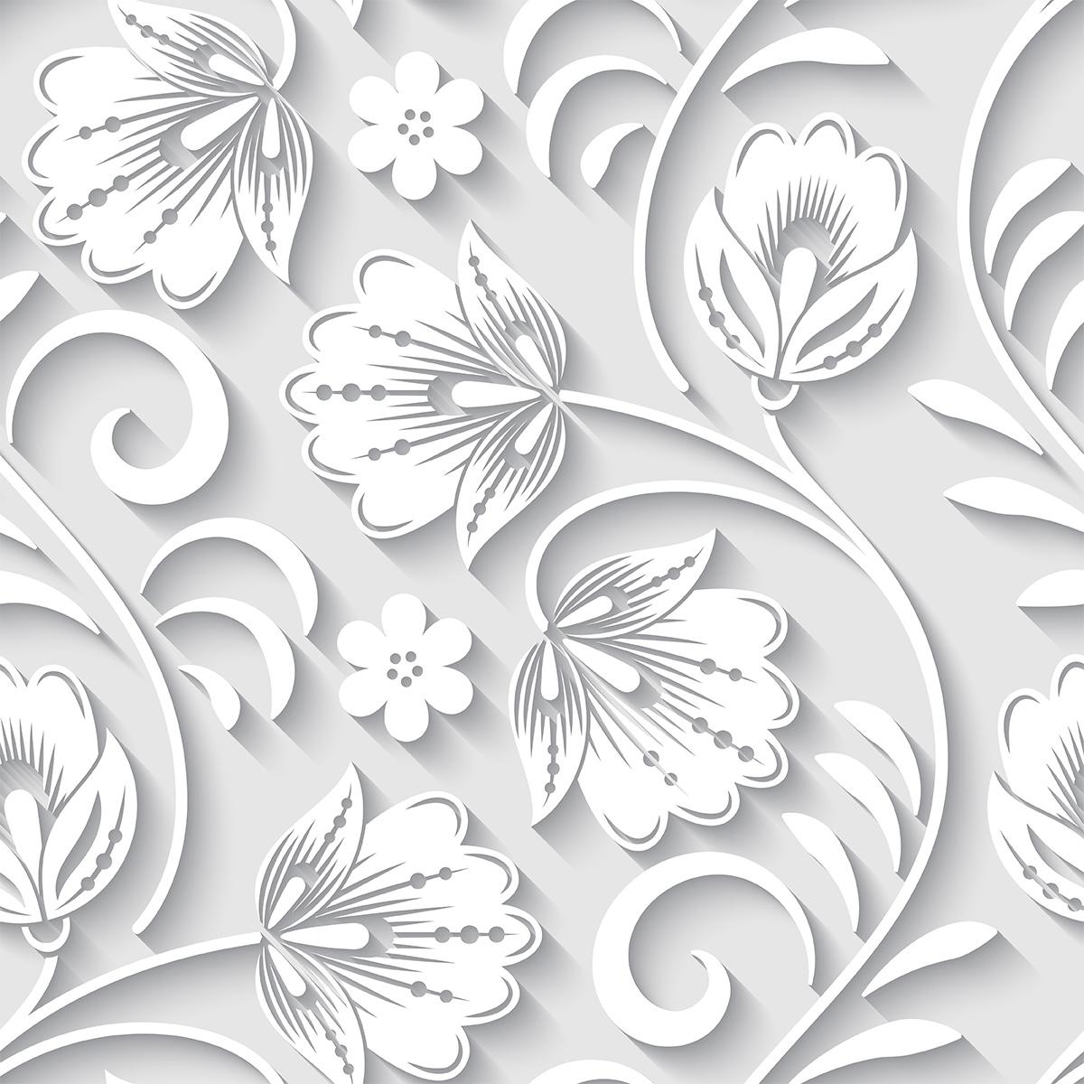 Papel de Parede 3D Galhos Folhas Floral Adesivo