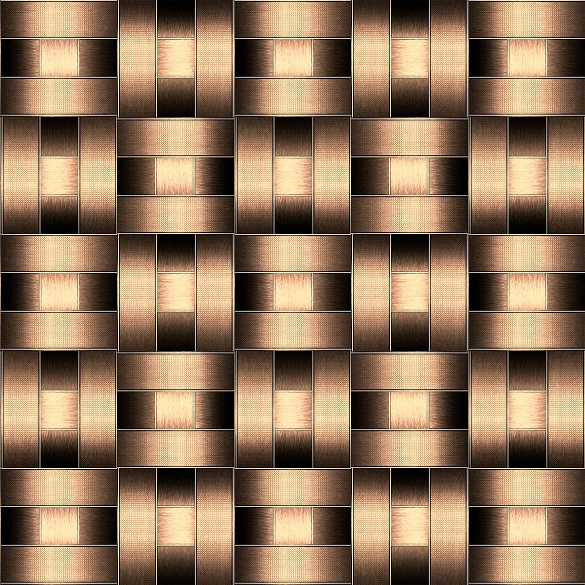 Papel de Parede 3D Geométrico Tubo Metálico Cano Adesivo