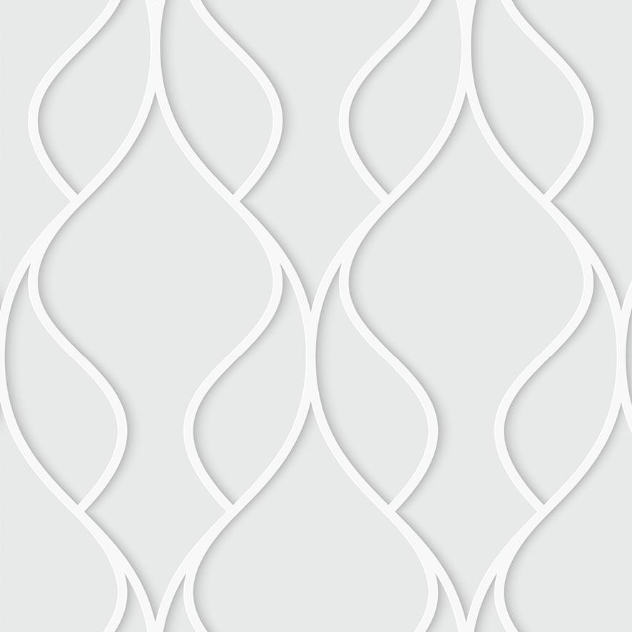 Papel de Parede 3D Folha Geométrico Glamour Adesivo P816