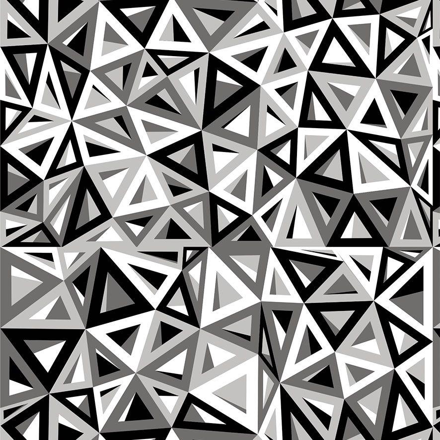 Papel de Parede 3D Abstrato Triângulos Adesivo P754