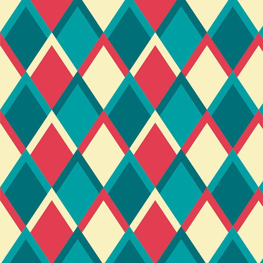 Papel de Parede Abstrato Geométrico Colorido Adesivo P641
