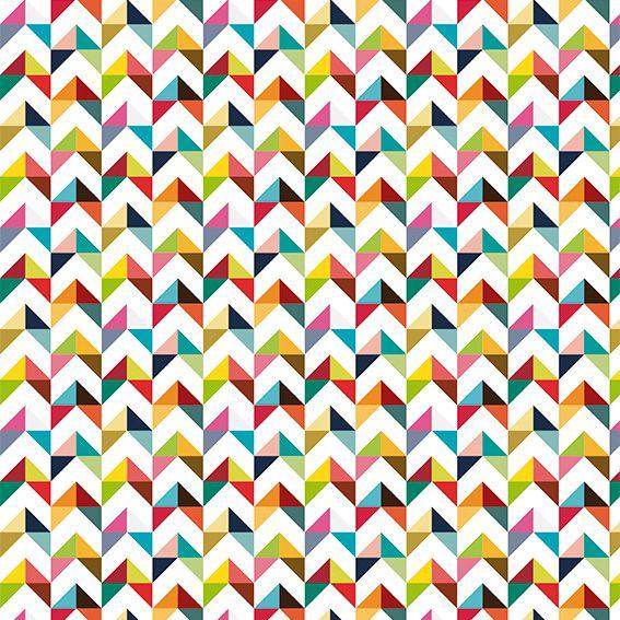 Papel de Parede Abstrato Triângulos Colorido Adesivo P468
