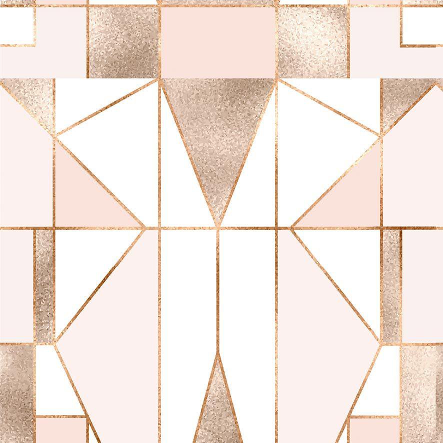 Papel de Parede Abstrato Rose Gold Adesivo P687