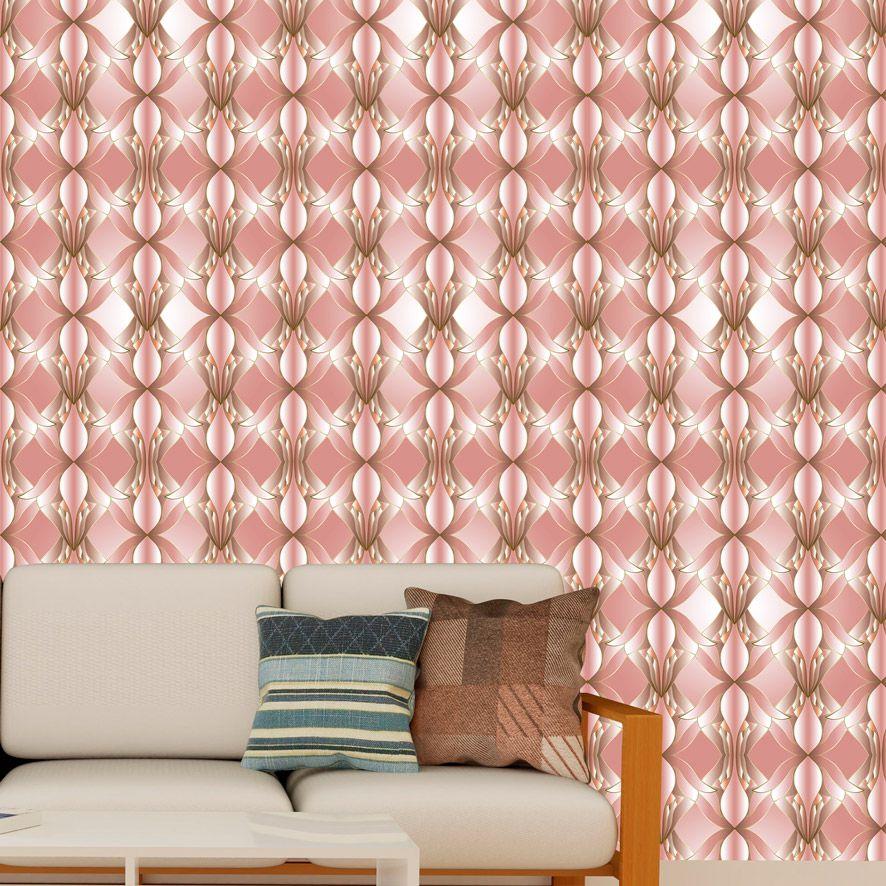 Papel de Parede Abstrato Rose Luxo Adesivo P789