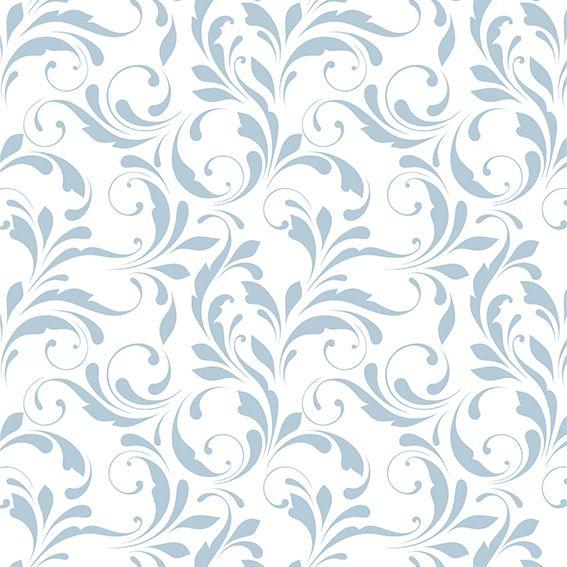 Papel de Parede Arabesco Floral Glamour Adesivo P319