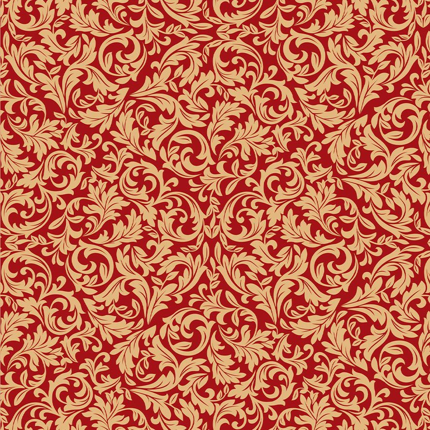 Papel de Parede Adesivo Arabesco Floral P608
