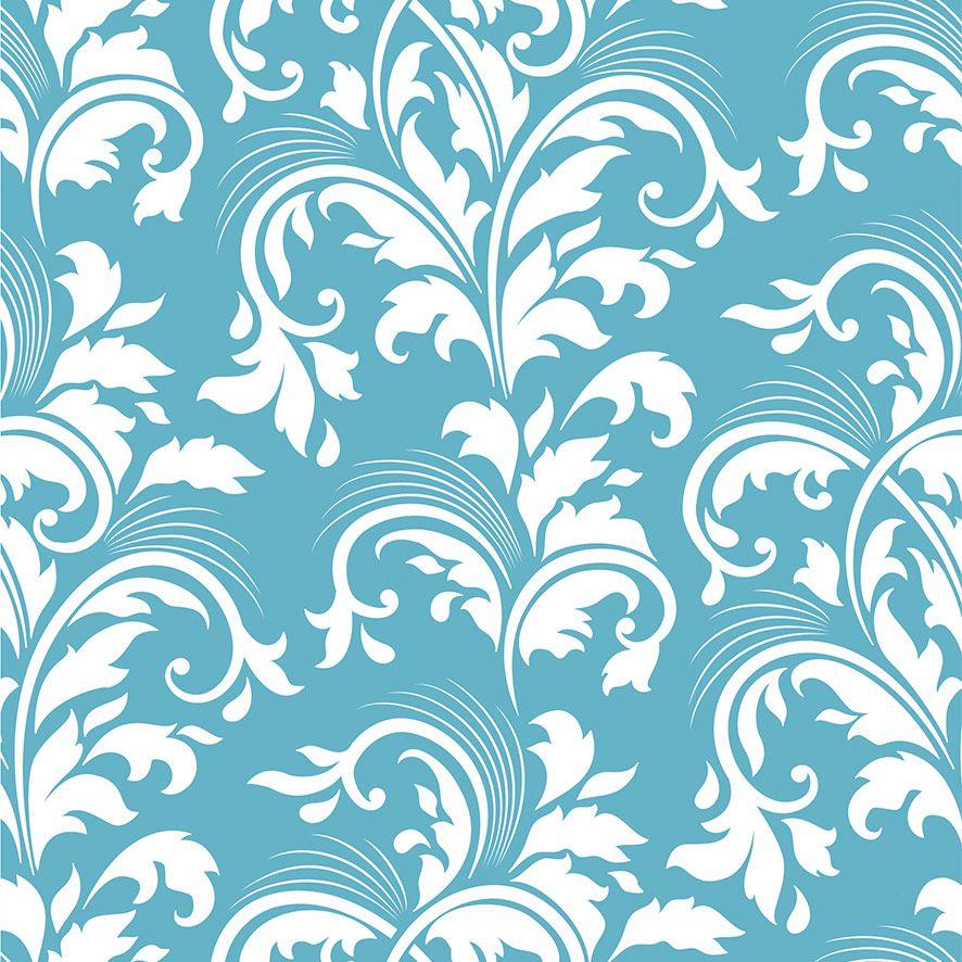 Papel de Parede Arabesco Floral Glamour Adesivo P660