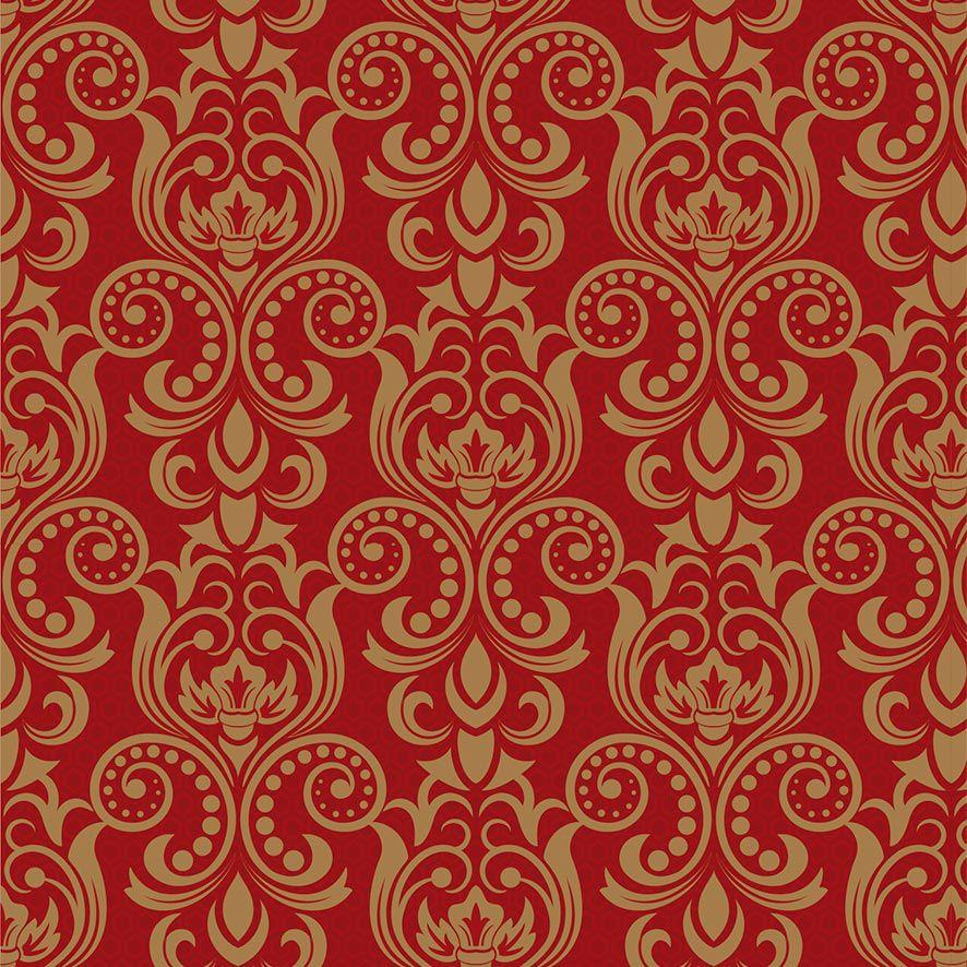 Papel de Parede Arabesco Floral Real Luxo Adesivo P788