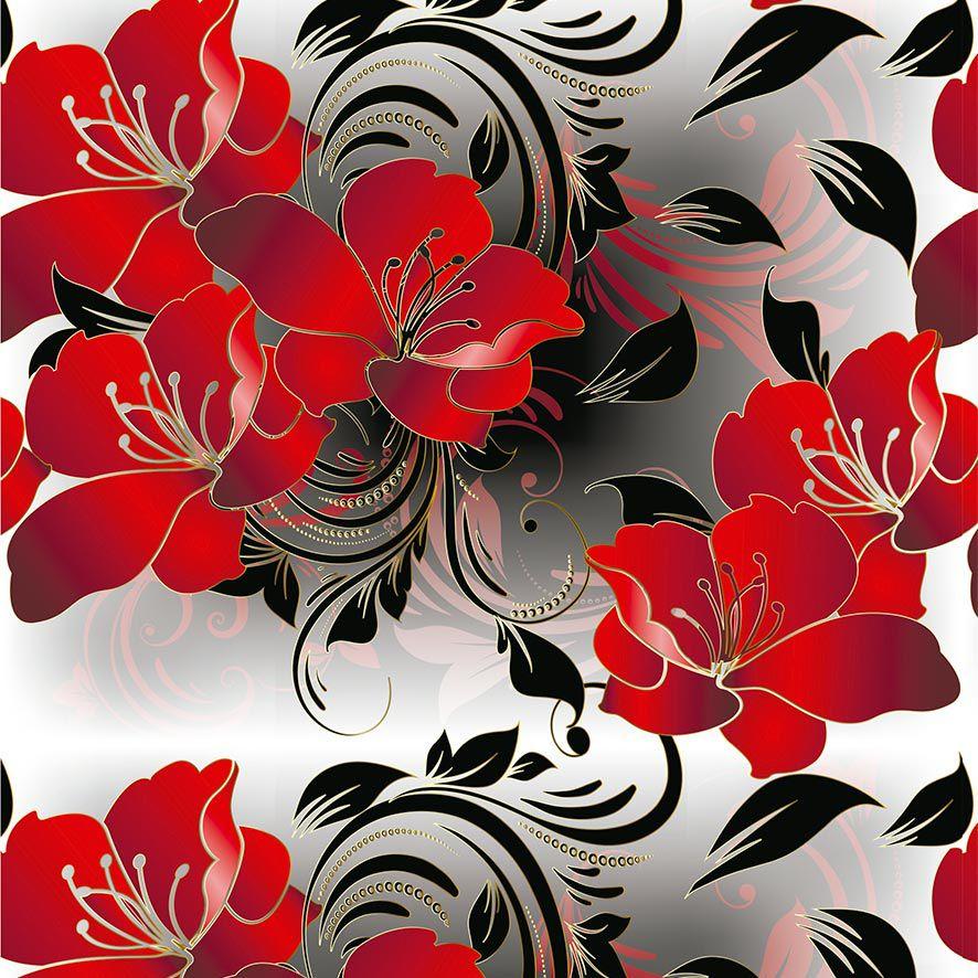 Papel de Parede Arabesco Folhas Flores Glamour Adesivo P798