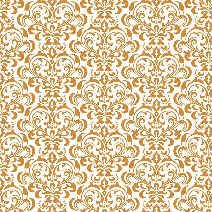 Papel de Parede Arabesco Realeza Glamour Adesivo P605