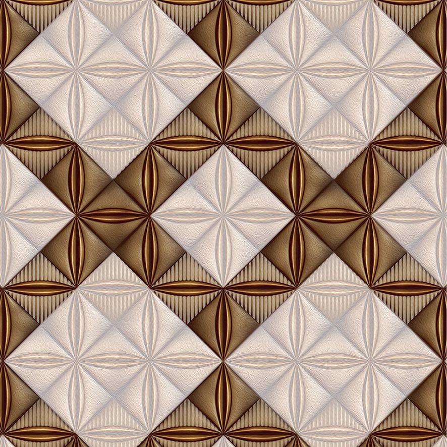 Papel de Parede Azulejo 3D Geométrico Triângulos Adesivo P571