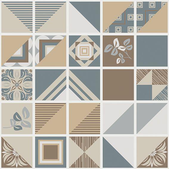 Papel de Parede Azulejo Geométrico Marroquinho Adesivo P186