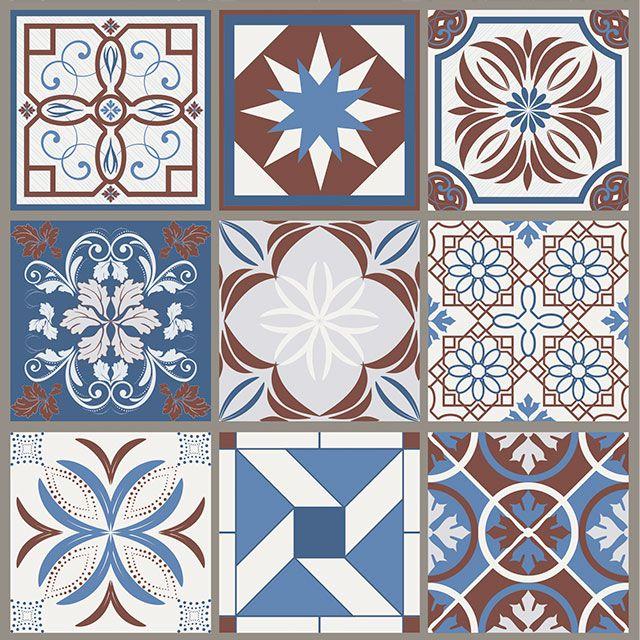 Papel de Parede Azulejo Grego Geométrico Adesivo P153