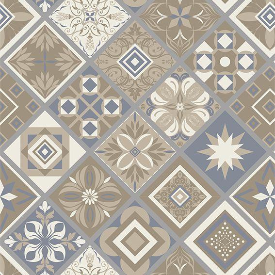 Papel de Parede Azulejo Grego Geométrico Adesivo P089