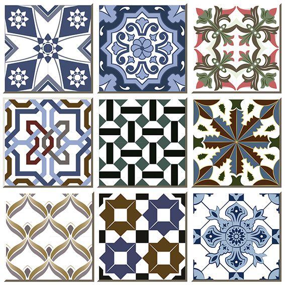Papel de Parede Azulejo Grego Geométrico Adesivo P132