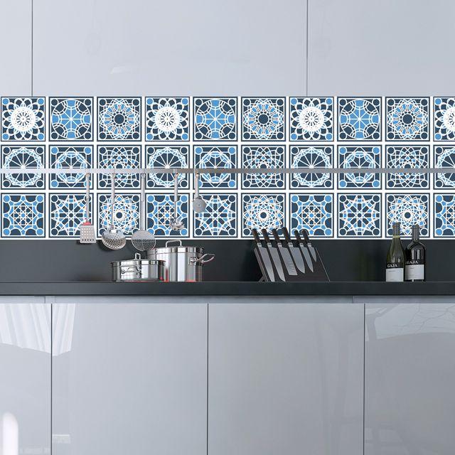 Papel de Parede Azulejo Grego Geométrico Adesivo P162