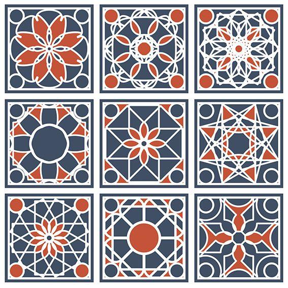 Papel de Parede Azulejo Grego Geométrico Adesivo P164